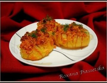 Pommes de terre au four au fromage – Запечена картопля
