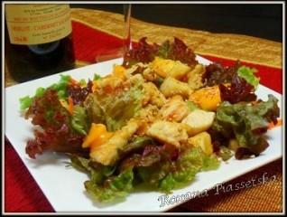 Salade exotique poulet curry mangue