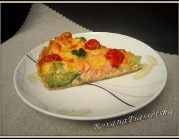 Quiche au saumon et aux brocolis