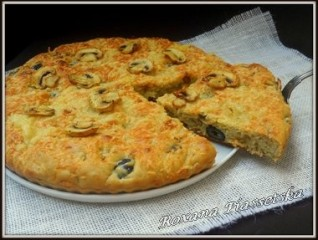 Tarte ukrainienne aux champignons-Грибний пиріг з сиром