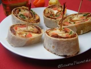 Roulés de tortillas au poulet  – Tortillas con pollo