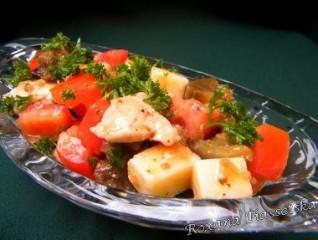 Salade d'aubergine à l'ukrainienne – Cалат з баклажанів