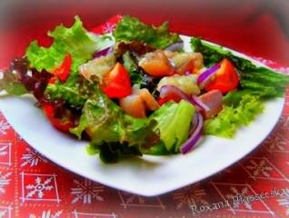 Salade verte à la truite fumée – Салат с копченой форелью