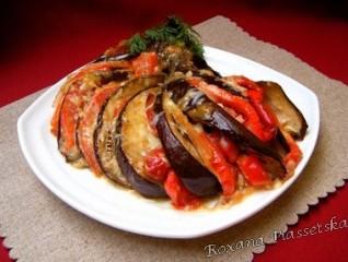 Evantail d'aubergine – Веер из баклажанов