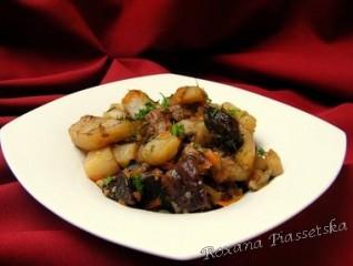 Ragout aux champignons – Жаркое из телятины с грибами