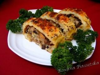 Roulé pommes de terre viande champignon – Картофельный рулет