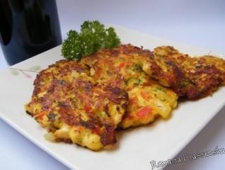 Galettes de poulet au légumes – Куриные оладьи