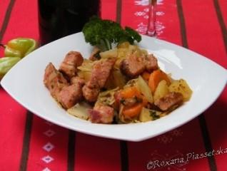 Légumes à la viande fumée – Копчене м'ясо з овочами