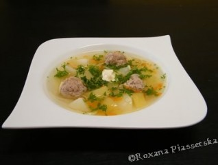 Soupe aux boulettes de viande – Суп з фрикадельками
