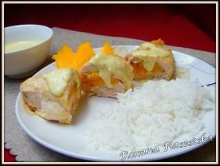 Roulés de poulet aux mangues – Куриные рулетики с манго