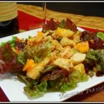 Salade exotique poulet curry mangue