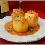 Pomme de terre farcie à la viande-Картопля фарширована м'ясом
