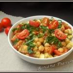 Salade de pois chiches tomate mozzarella
