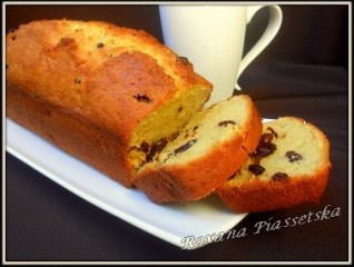 Cake aux raisins sec et zeste de citron