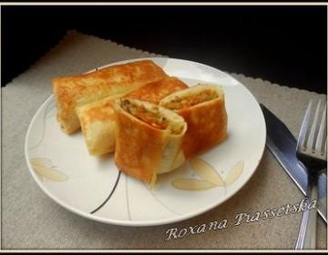 Crêpes ukrainiennes aux choux – Млинці з капустою