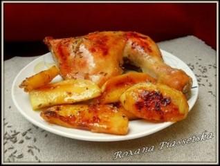 Cuisses de poulet aux pommes