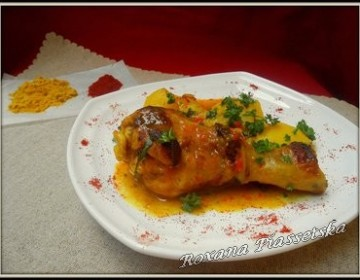 Poulet au curry et curcuma