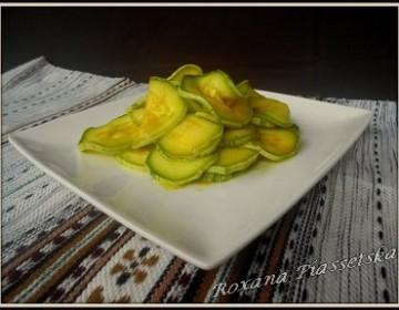 Courgettes marinées au curcuma – Закуска з кабачків