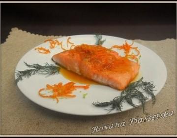 Pavé de saumon  sauce agrumes – miel