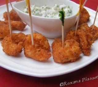 Crevettes panées à la noix de coco – Camarones al coco