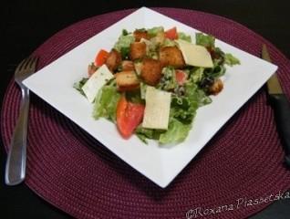 Salade verte à l'avocat et au parmesan – Ensalada verde