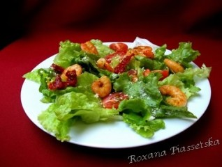 Salade verte aux crevettes – Салат «Креветка на курорте»