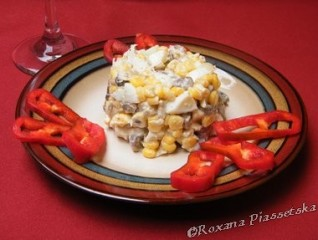 Salade de champignons et de maïs – Салат з грибами і кукурудзою