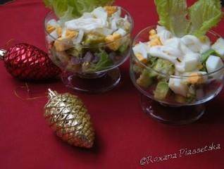 Salade d'avocat aux crevettes – Салат з авокадо і крeветками