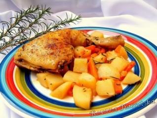 Cuisses de poulet aux epices – Kурячі стегна з овочами