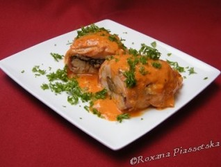 Blanc de poulet farcis aux champignons – Куриные кармашки с грибами